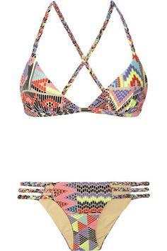e714031c3ba MARA HOFFMAN Maya printed triangle bikini- ready for summer already. Tegan  Maestretti