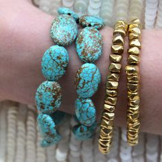{Bliss Bracelet Turquoise, gold} eff.Y.bee