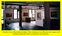 A view of the second floor gallery.