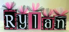 We will need these too!!! zebra print and Hot pink name blocks - K.I.R.A.