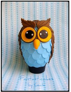 Easter egg owl