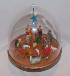 Vintage Ohio Art Musical Revolving Nativity Scene Dome Plays Silent Night   | eBay