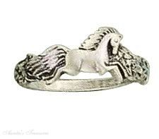 Sterling Silver Small Horse Ring Auntie's Treasures. $42.37