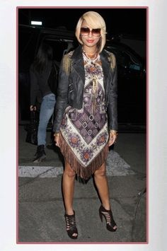 Buy it: Keri Hilson's Fringe Scarf Dress
