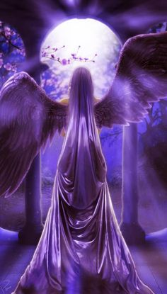 Pretty purple angel