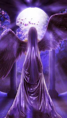 Pretty purple angel