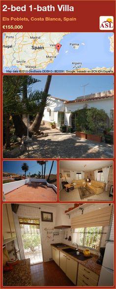 2-bed 1-bath Villa in Els Poblets, Costa Blanca, Spain ►€155,000 #PropertyForSaleInSpain