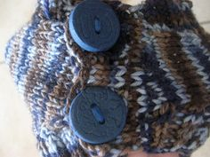 Show Tell Share: STASH Challenge Knit Vest With Clay Buttons...TUTORIAL FOR MAKING CLAY BUTTONS..REALLY FUN!!