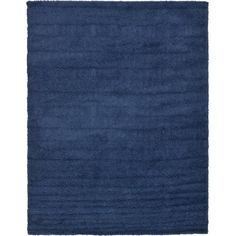 Unique Loom Solid Shag Navy Blue Indoor Area Rug (Common: 9 x Actual: W x L) at Lowe's. Our Solid Shag Collection has the capability to brighten any room with a luxurious and lively pop of color. This rug's lush texture adds comfort and