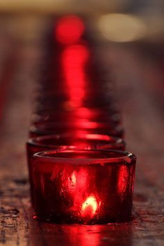 Red candles are the invigorating color of energy & life.  Burn them to connect with blood, birth & sex.  They increase magnetism, promote courage, and invoke vigor & enthusiasm.  Use them to bring love, passion, fertility and physical strength.
