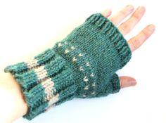 Verde azul guantes sin dedos