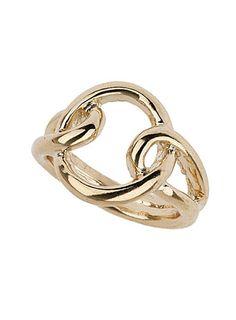 Plain knot ring