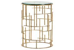 Ellery Side Table, Gold