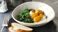 Recipes - Sweet Potato Gnocchi with Citrus Cream and Wilted Spinach Cooking #Recipes #recipe #cook #food