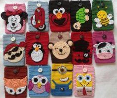 Android Telefonlarınız İçin Kılıf Modelleri Today, touch phones are replaced by touchscreen and android phones. Crochet Phone Cover, Crochet Case, Crochet Coin Purse, Crochet Gifts, Crochet Toys, Easy Crochet, Crochet Applique Patterns Free, Crochet Flower Patterns, Crochet Flowers