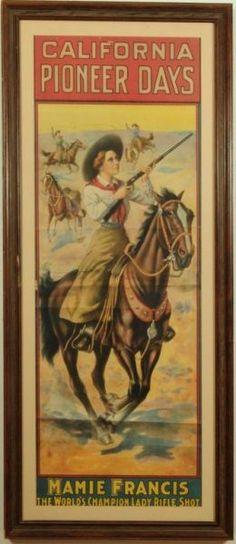 California Pioneer Days Mamie Francis Poster