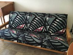 This futon package is very sleek looking with thin arms and a thick futon mattress. UrbanFutonBeds.com