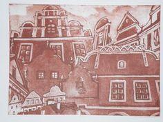 Mészáros Marianna: Krumlov 1. - Utazás, külföldi helyek, élmények - Grafikák - Webáruház - Művészi ajándék - Cultural Gifts - Kecskemét, Magyarország