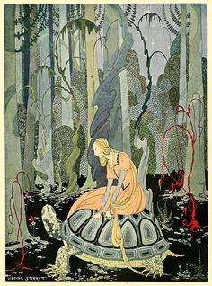 Virginia Frances Sterrett's illustrations for Old French Fairy Tales.