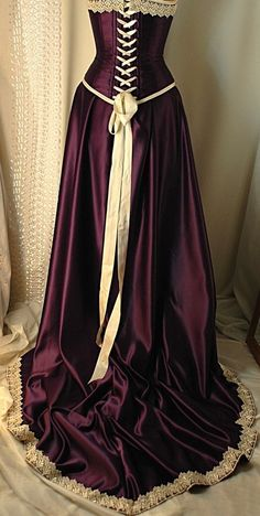 Satin Dress in Plum