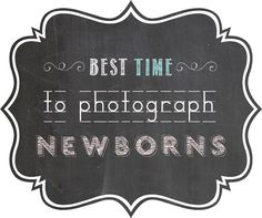 Ana Brandt explains when is the best time to photograph a Newborn.  http://www.bellybabylove.com