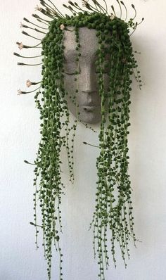 HeadPlanters are a fun wall planter that allows you to create an instant personality for the sculptural face by adding succulents or cacti. #gardenideas #succulentplanter #garden Plant Wall, Plant Decor, Garden Wall Designs, Cactus, Landscape Lighting Design, Face Planters, Vertical Planter, Landscape Walls, Natural Garden