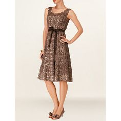 Buy Phase Eight Lorenza Dress, Praline Online at johnlewis.com