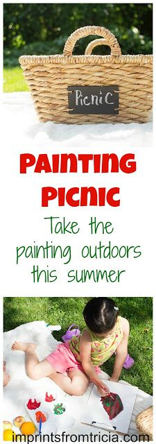Mess For Less: Painting Picnic - Guest Post from Imprints From Tricia