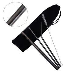 Steel Straw + Cleaning Brush + Housing Bag – Sensible Sips