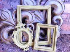 Empty Gallery Frames Distressed Shabby Chic Vintage by FeFiFoFun, $31.00