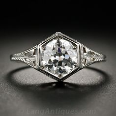 1.5 Carat Filigree Engagement Ring - Similar Version Available as Custom Order at Pepe & Ty on Etsy - http://www.etsy.com/shop/PepeAndTy