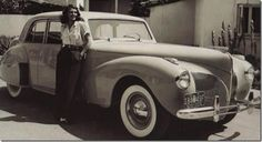 Rita Hayworth with her 1941 Lincoln Continental
