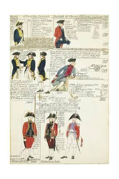 Giclee Print: Various Uniforms of the Duchy of Parma, Piacenza and Guastalla, 1790-1800 : 24x16in