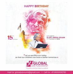 Our Humble Tribute to the 'Missile Man' on his Birth Anniversary Dr. Abdul Kalam, We Are Hiring, Tomorrow Will Be Better, Happy Birthday, Anniversary, Happy Brithday, Urari La Multi Ani, Happy Birthday Funny, Happy Birth
