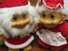 Mr and Mrs Troll Santa Clause Claus  Super Cute by Bogglesmymind, $29.99