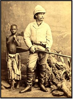 Carte-de-visite of Sir Henry Morton Stanley, - Historical Times Old Pictures, Old Photos, Vintage Pictures, Vintage Images, Congo Belga, Lac Tanganyika, Tanzania, Kenya, Pith Helmet