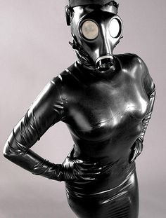 Rubber gas mask fetish piss
