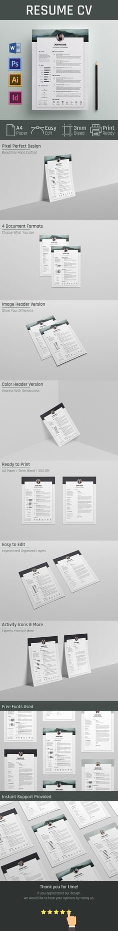 """Check out this @Behance project: """"Free Resume / CV Template"""" https://www.behance.net/gallery/46622737/Free-Resume-CV-Template"""