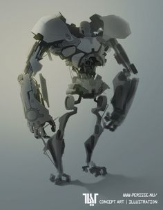 Robot by Rodolfo Rocha on ArtStation.