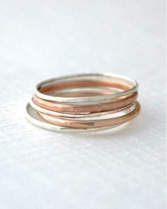 Mixed stack rings