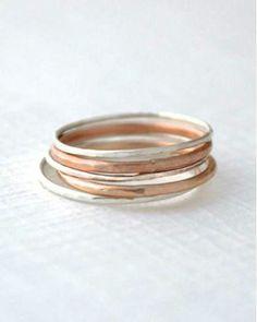 Mixed stack rings