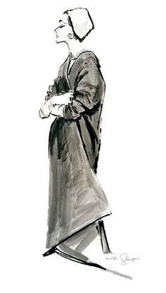 Zoe c. 1959 Fashion Illustration $75-295 vintage fashion