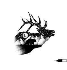 Новости Art Sketches, Art Drawings, Native American Totem, Native Tattoos, Stippling Art, Animal Templates, Doodle Art Journals, Bear Art, Indigenous Art