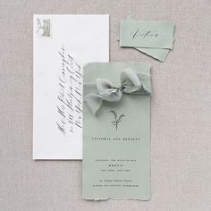 """24 Likes, 1 Comments - tono & co. (@tonoandco) on Instagram: """"Pretty invitation by @plumecalligraphy wrapped in our SAGE silk ribbon 