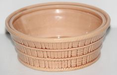 Vintage Arn Art Creation Made In Japan Pottery Bowl Basket Weave Look