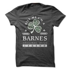 Barnes Irish Legend - #gift for girls #gift table. SAVE  => https://www.sunfrog.com/Names/Barnes-Irish-Legend.html?id=60505