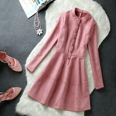 Aliexpress.com: Compre Coreano moda inverno das mulheres de manga comprida fino de camurça de veludo mulheres outono elegante temperamento vestidos de confiança camisa com gravata impressa fornecedores em all is OK