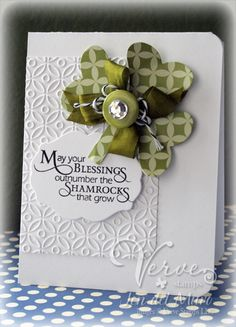 Great clean and simple card.  Could use anything in place of shamrock.