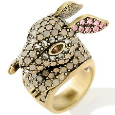"Heidi Daus ""The Honey Bunny"" Crystal-Accented Ring"