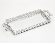 Bandeja Cristal Retangular 50 Cm World Importados
